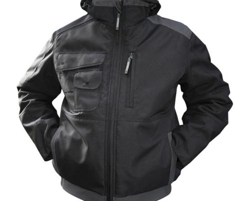 Arbeitsjacke schwarz grau
