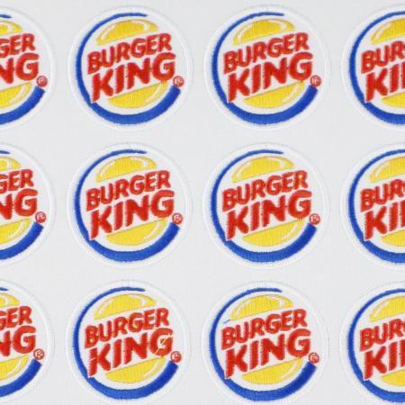 Aufnaeher Stickabzeichen Patches Burgerking