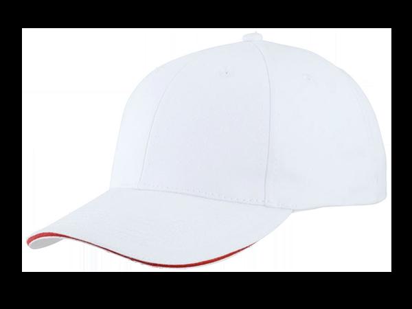 Cap besticken Weiss Rot