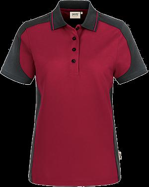 Poloshirt Damen Besticken Bedrucken Contrast Performance Hakro Vorne 239