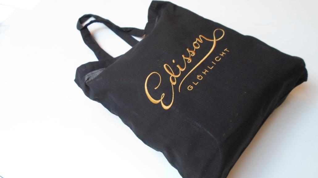 Stofftasche bestickt mit Logo