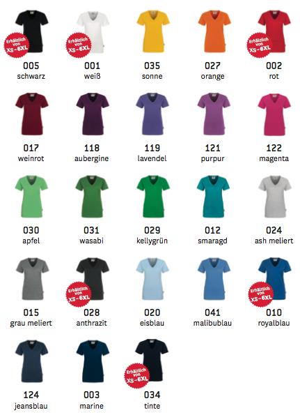 T-Shirt Farben