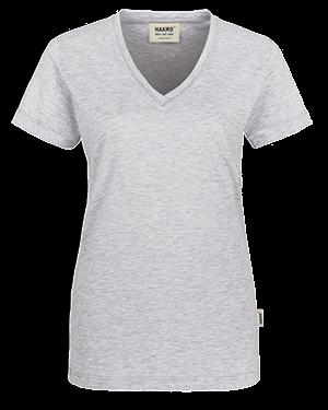 T Shirt Besticken Bedrucken Vorne Hakro Damen Classic 126
