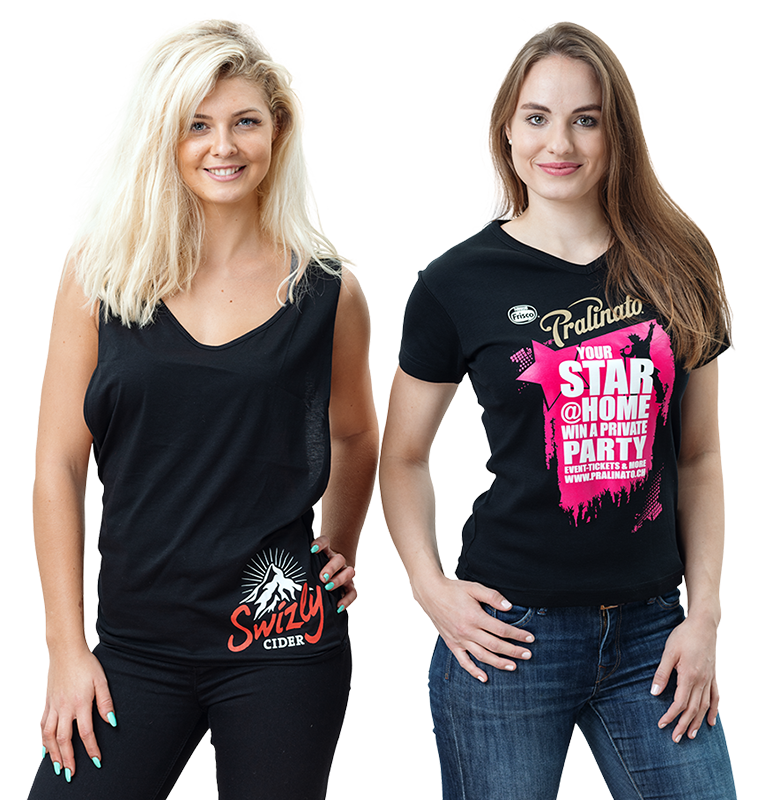Damen T-Shirts bedrucken