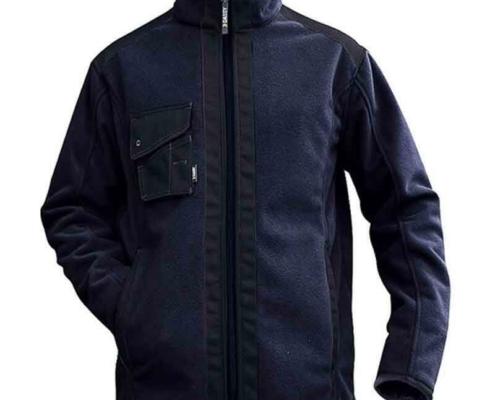 Workwear Fleece Jacke blau schwarz