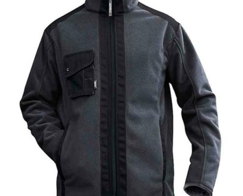 Workwear Fleece Jacke grau schwarz