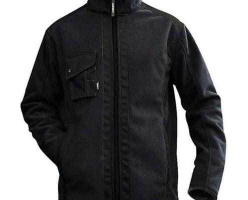 Workwear Fleece Jacke schwarz