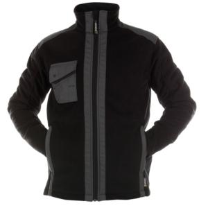 Workwear Fleece Jacke schwarz grau